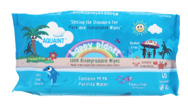 AQUAINT 100% BIO WIPES 60'S