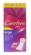 CAREFREE PANTYLINERS LARGE PLUS 28'S
