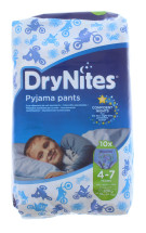 HUGGIES DRY BOY 4-7 YRS 10S NEW PK