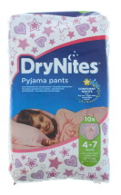 HUGGIES DRY GIRL 4-7YRS 10S NEW PK