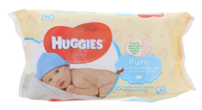 HUGGIES BABY WIPES 56S PURE