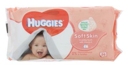 HUGGIES BABY WIPES 56S SOFT