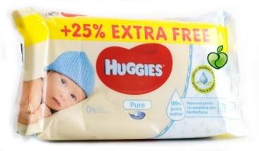 HUGGIES BABY WIPES 72'S PURE 25%EF