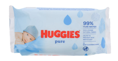 HUGGIES BABY WIPES JUMBO PURE 72S