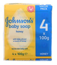 JOHNSONS BABY SOAP 4X100G HONEY