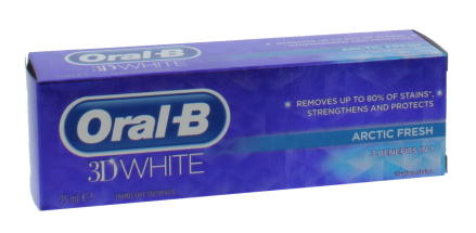 ORAL B 75ML T/P 3D WHITE ARCTIC