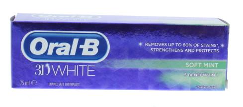 ORAL B 75ML T/P 3D WHITE MINT EX