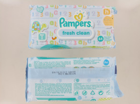 PAMPERS WIPES FRESH CLEAN 64'S NEW
