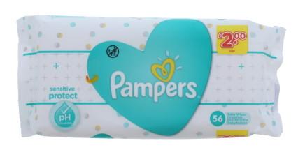 PAMPERS WIPES SENS 56'S PMP £2.00