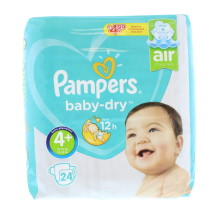 PAMPERS NAPPIES BABY SIZE 4+ 24'S £4.99