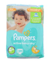 PAMPERS ACT BABY DRY NAPPIES SIZE 4+ 39S