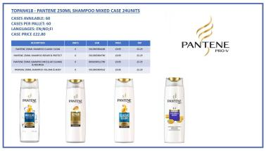 PANTENE 250ML SHAMPOO MIXED CASE 24PC