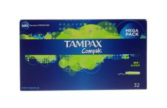 TAMPAX COMPAK SUPER 32'S
