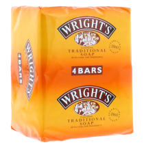 WRIGHTS 125G COAL TAR SOAP (4FOR3 PACK)