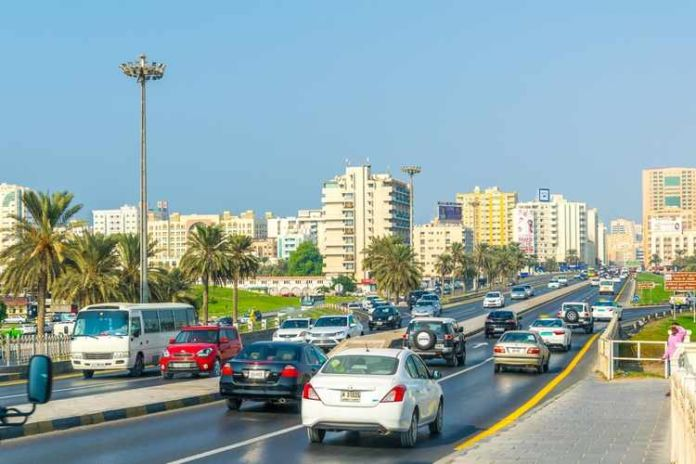 sharjah traffic