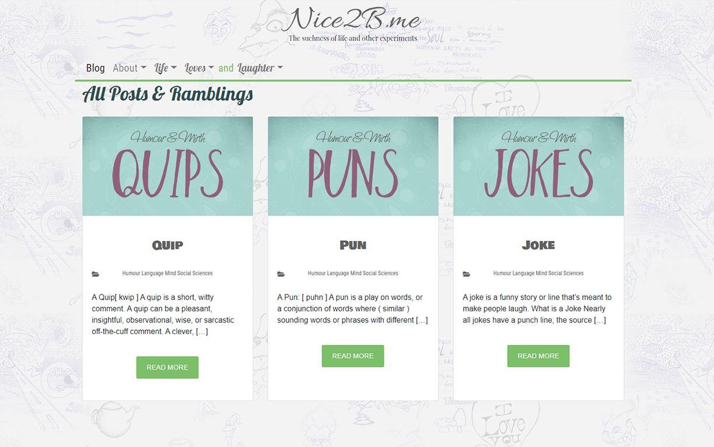 Nice2b.me React Theme for WordPress