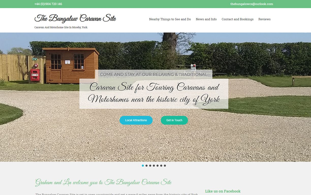 Website and Branding for The Bungalow Carvan Site York