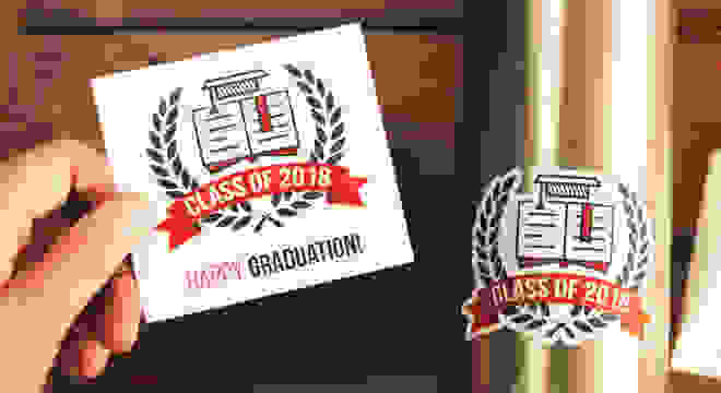 Kiss-cut custom graduation stickers