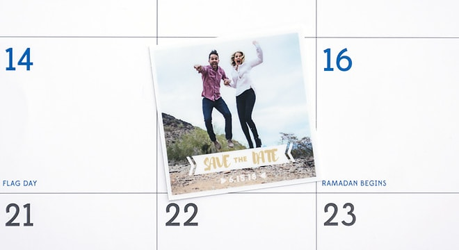 Save the Date stickers for a wedding