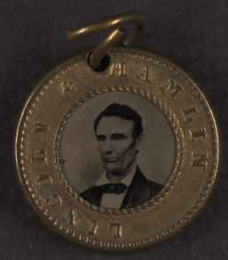 Abraham Lincoln Campaign Button, 1860