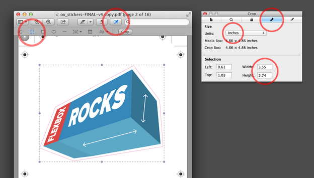 PDF-afmetingen Voorvertoning Mac OS
