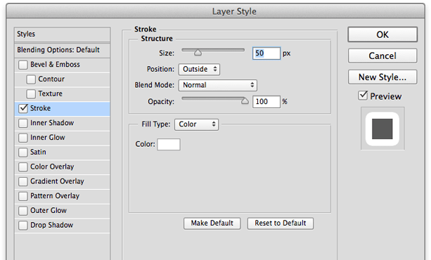 select stroke in Photoshop