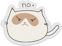 sticker-transparent-grumpycat