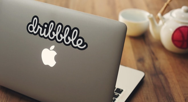 Dribbble logo sticker