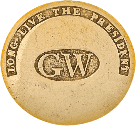 George Washington Inaugural Button