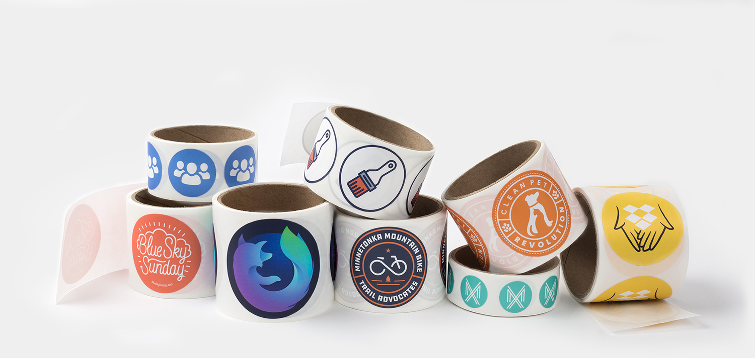 Round roll labels by Sticker Mule