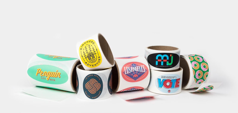अंडाकार रोल लेबल्स इस समय तक Sticker Mule