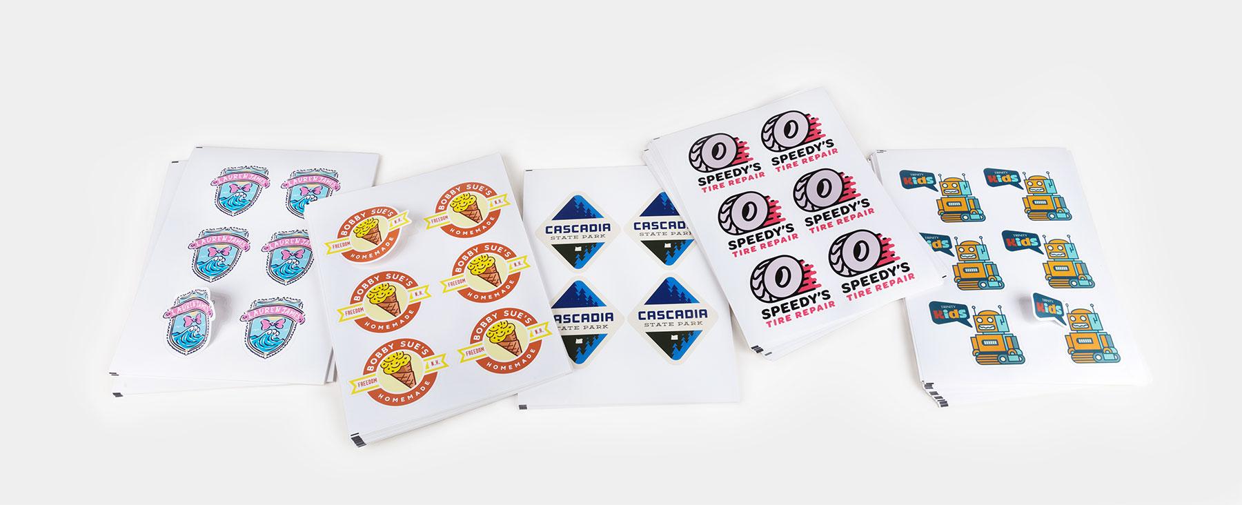 Die cut sheet labels by Sticker Mule