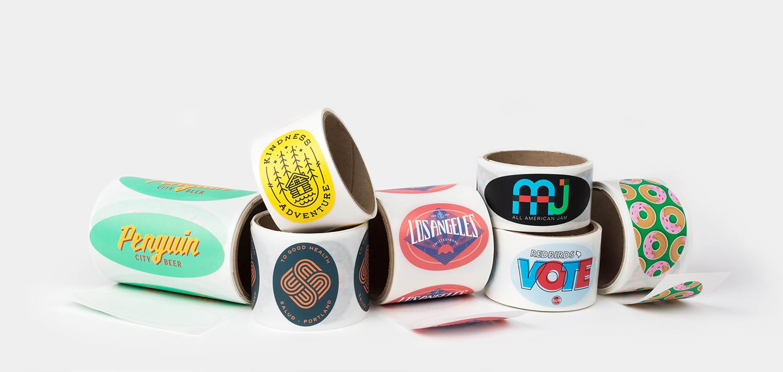 Oval roll labels by Sticker Mule