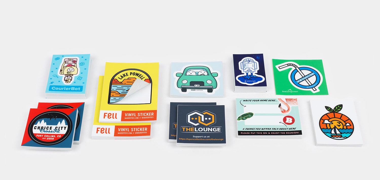Pegatinas semi-troqueladas por Sticker Mule