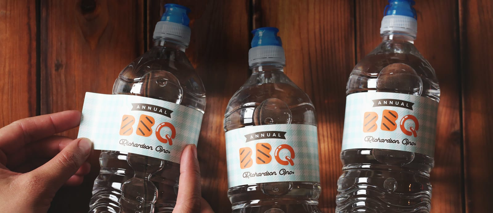 Water bottle labels by Sticker Mule