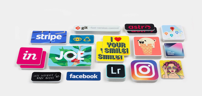 Stickers à coins arrondis