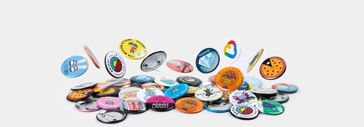 57mm Badges ronds de Sticker Mule