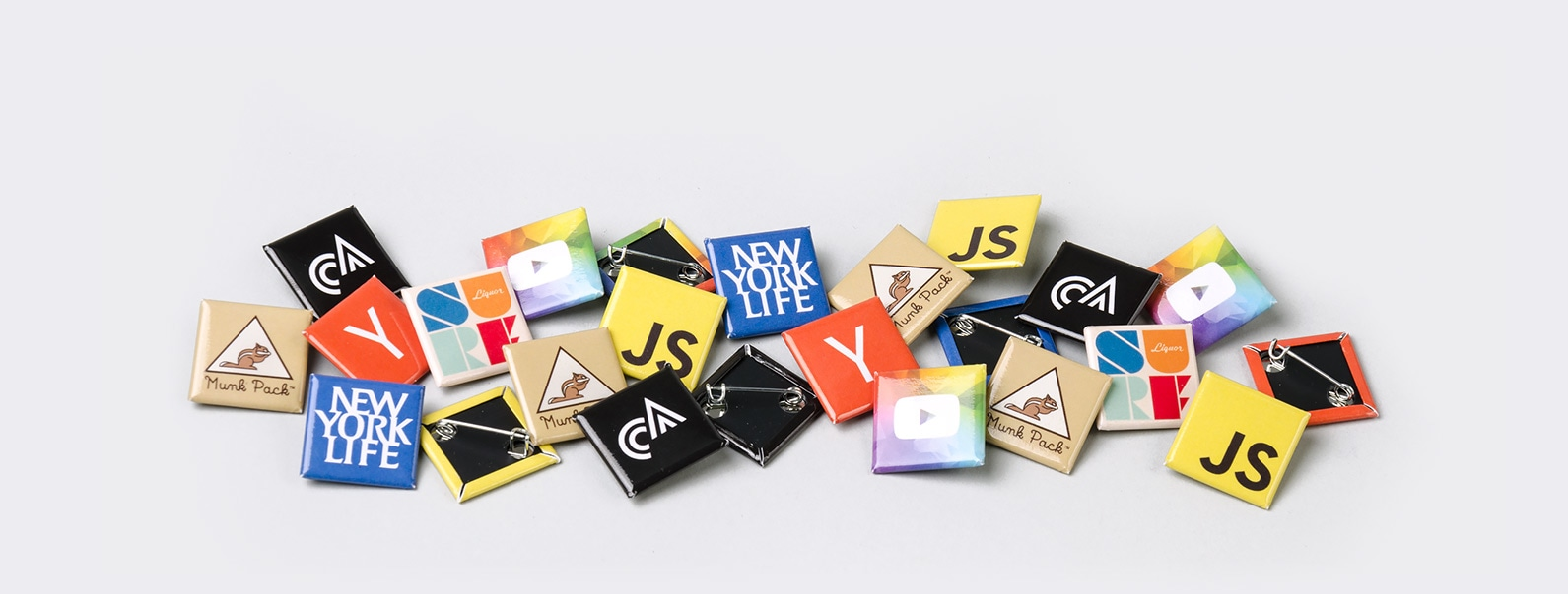 """1"""" Square buttons by Sticker Mule"""