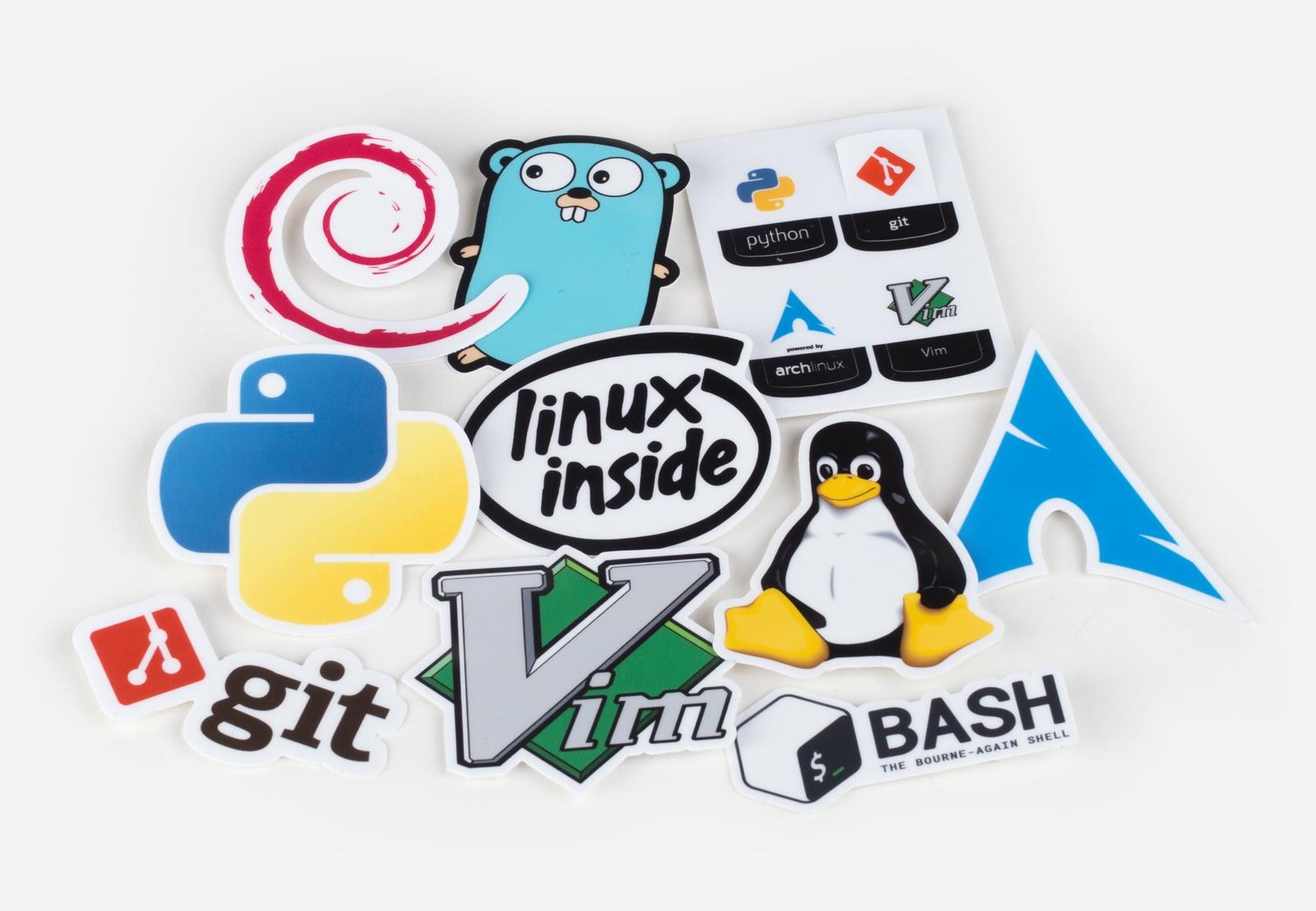 Unixstickers - Pro Packung von Sticker Mule