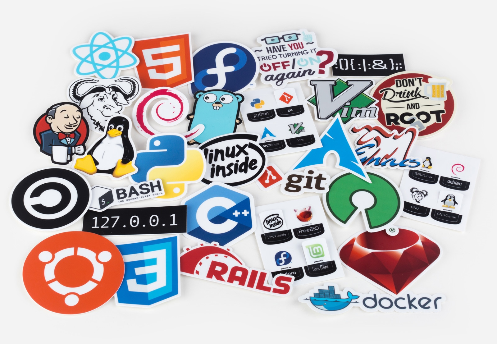 Unixstickers - Ultimate pack by Sticker Mule