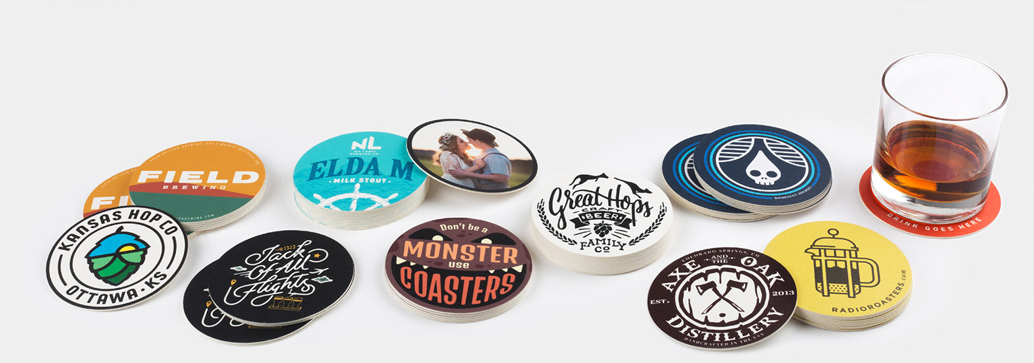 Custom coasters by Sticker Mule