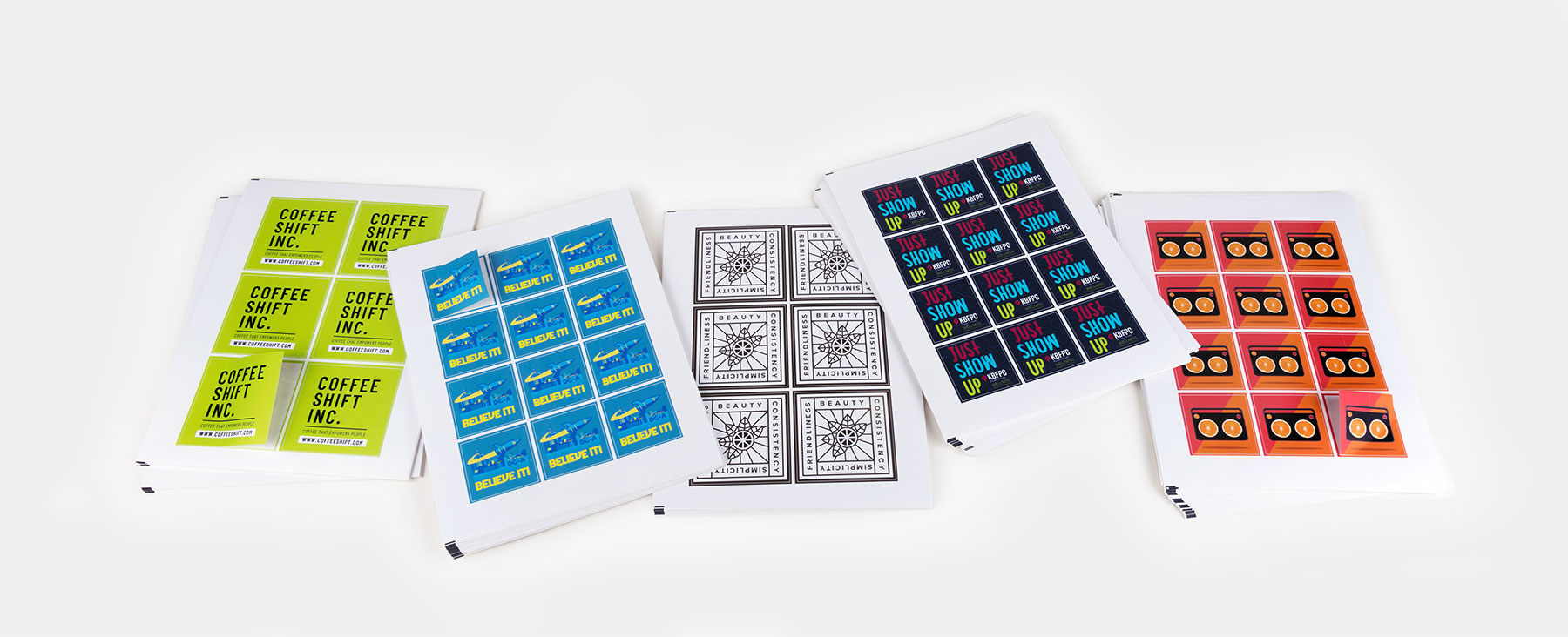 Square sheet labels by Sticker Mule