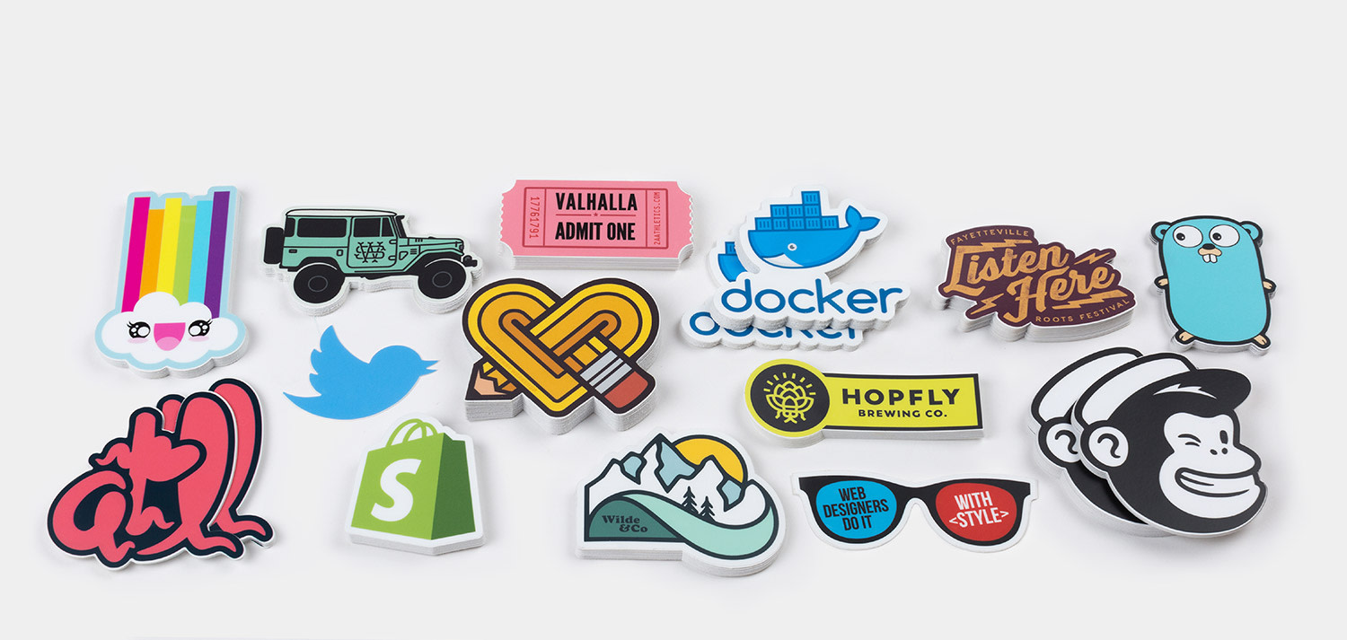 Die cut stickers by Sticker Mule