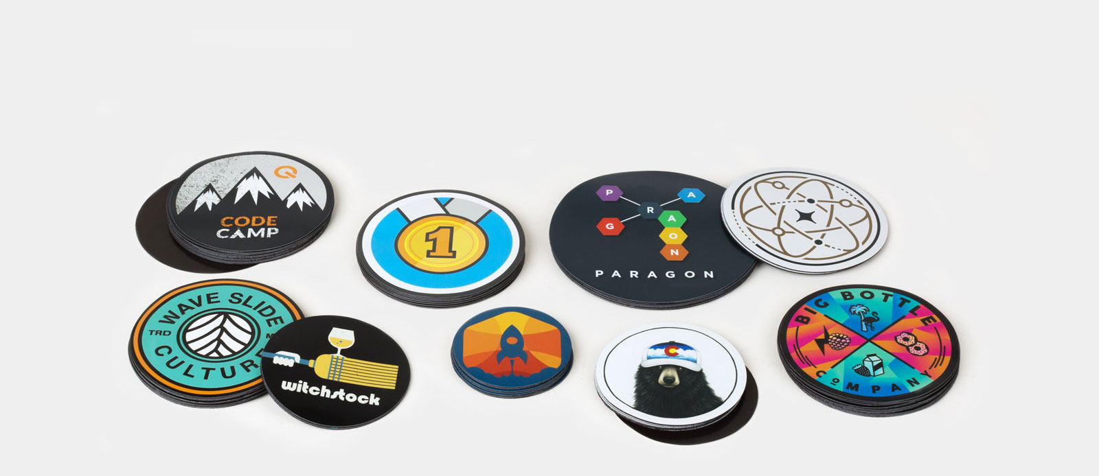Circle magnets  by Sticker Mule