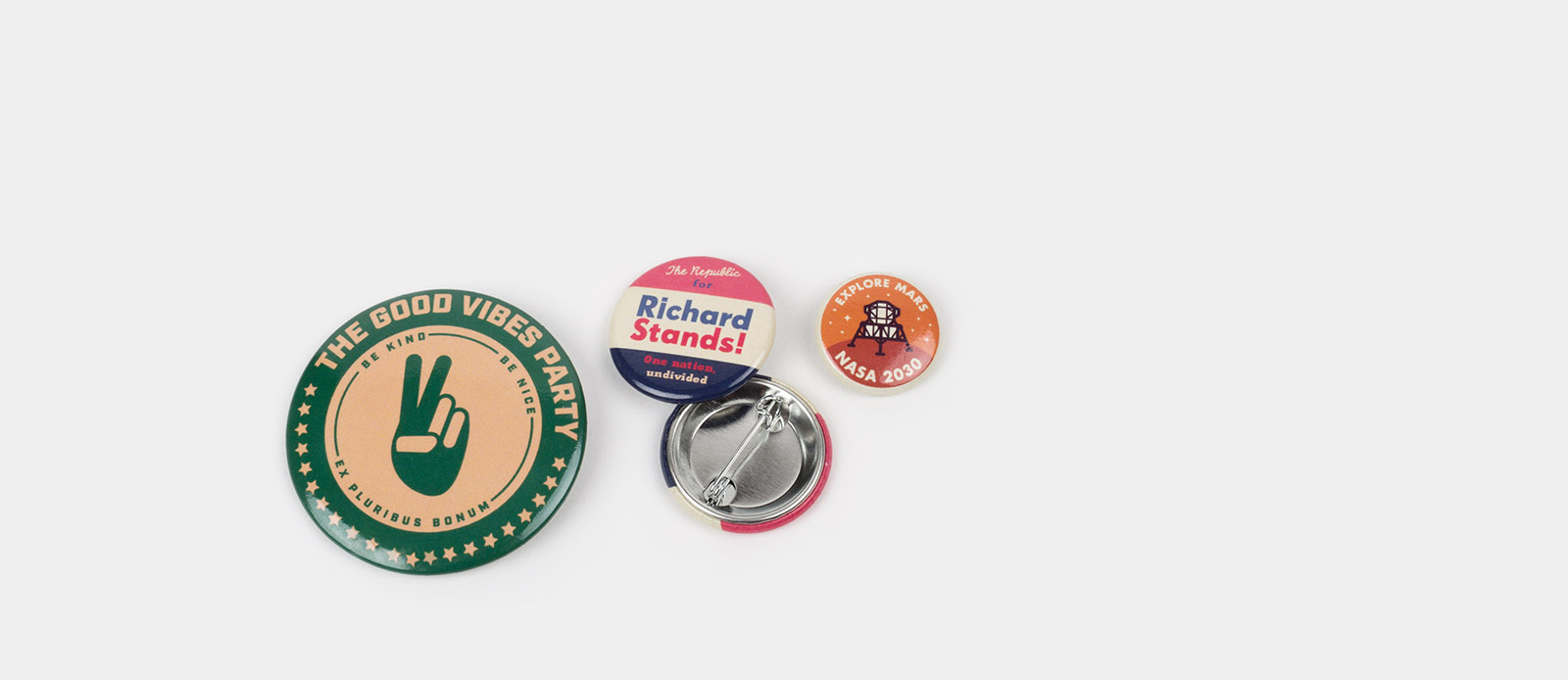 Badges campagne de Sticker Mule