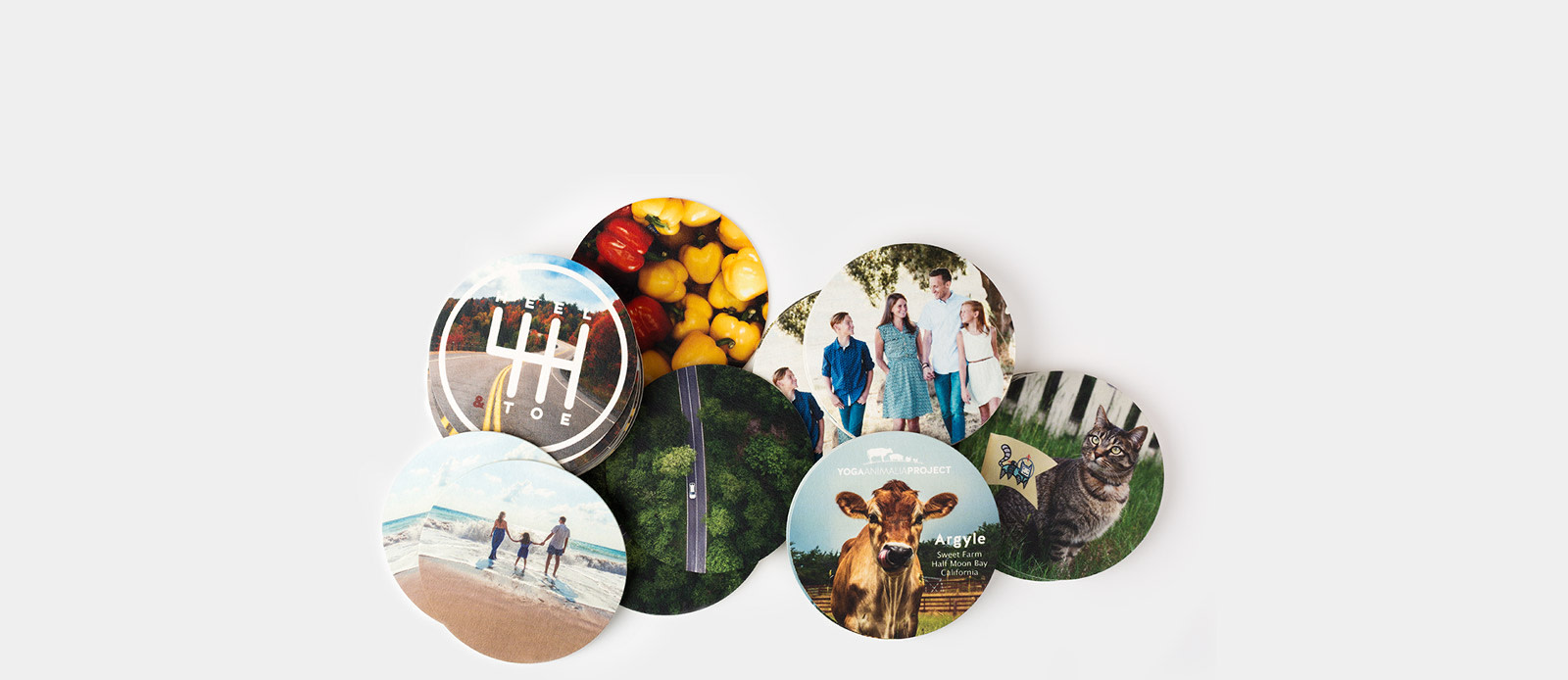 Photo coasters por Sticker Mule