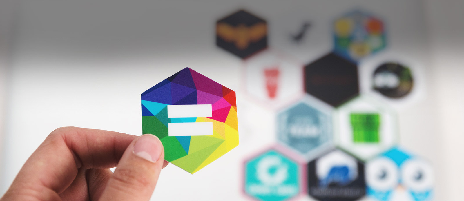 Hexagon stickers by Sticker Mule