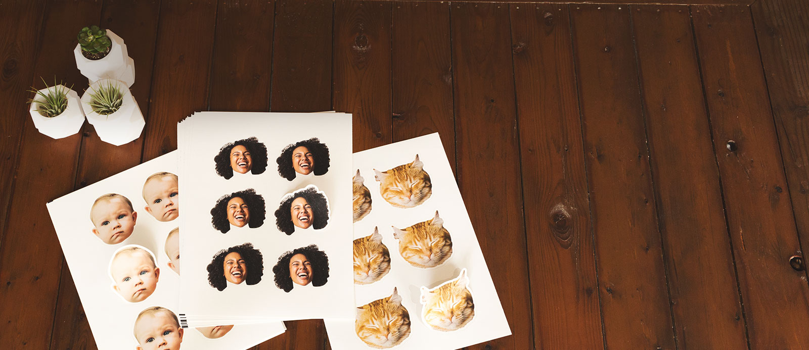 Face labels  by Sticker Mule
