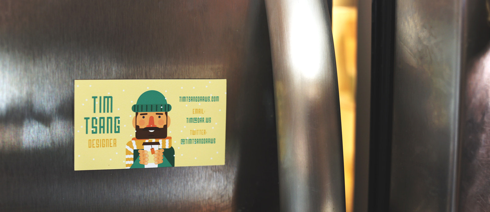 Business card magnets by Sticker Mule