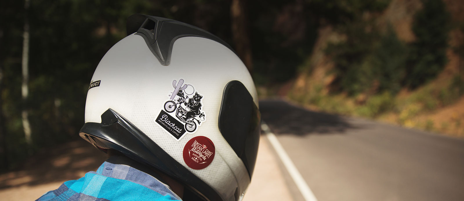 Motorcycle helmet stickers